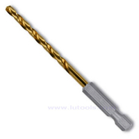 Hex Shank HSS Twist Drill Bit Titanium Coated