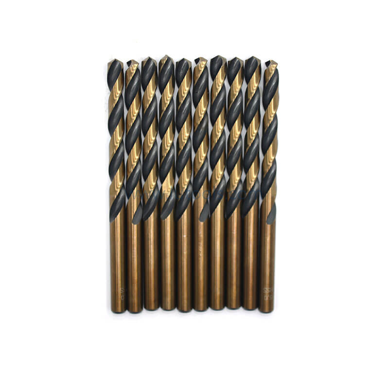 Black and Amber Color ( Black and Gold Color) HSS Twist Drill Bit